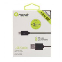 Cable Micro USB 3.0 Muvit  Supercharge